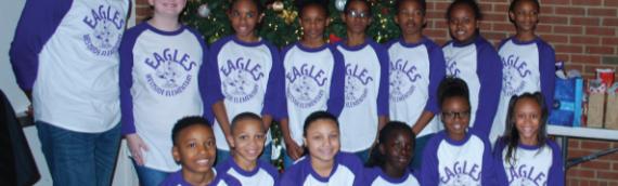 Westside Elementary Step Team Spreads Holiday Cheer